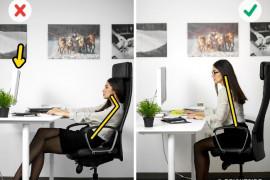 """6 zasad """"zdrowego"""" siedzenia przy biurku"""